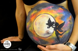 Sesión Belly Painting para embarazadas