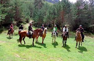 Ruta a caballo de más de 1 hora