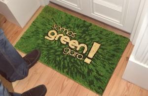 ¡Consigue tu felpudo de greenvenida!